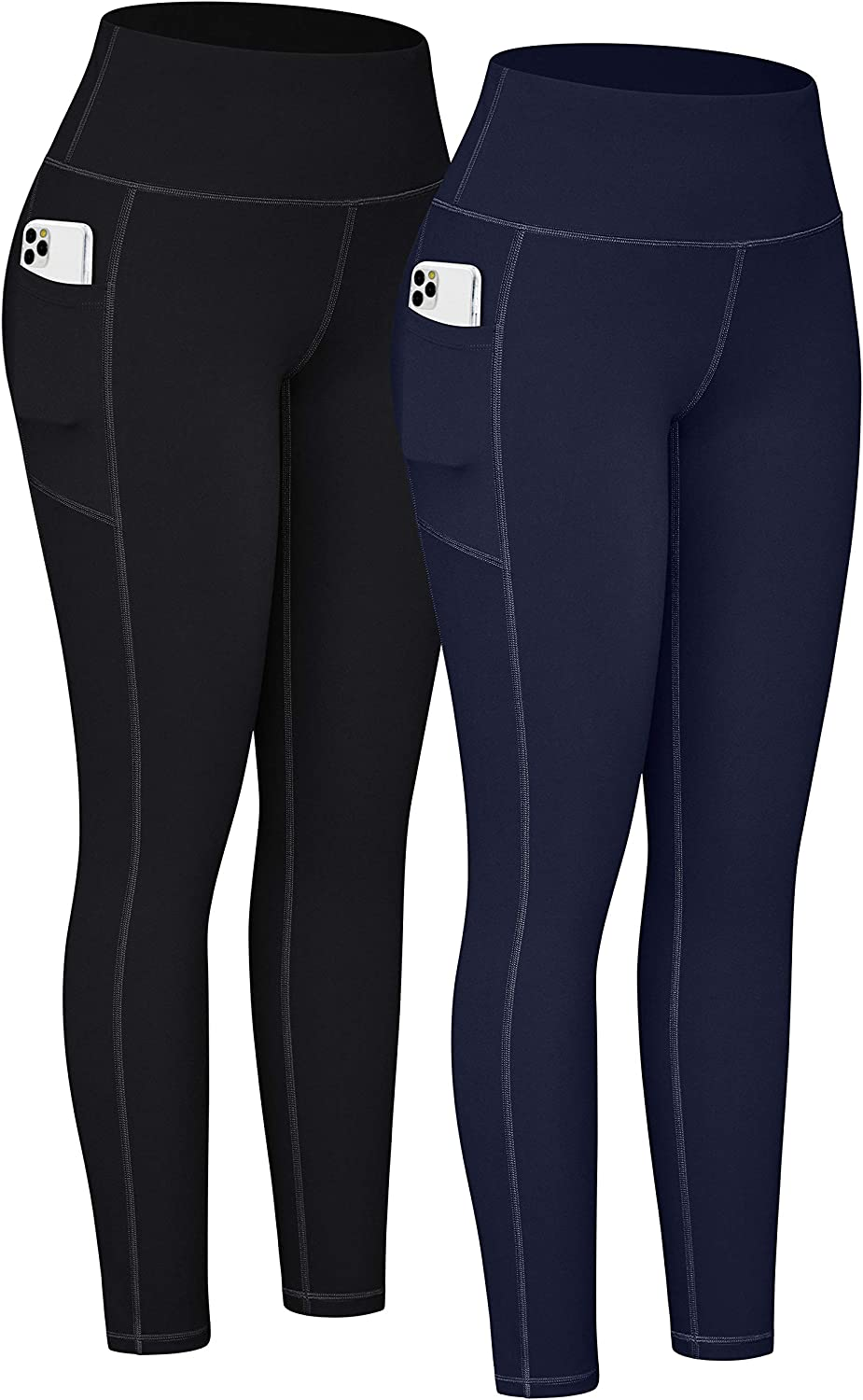 TOREEL Workout Leggings for Women with Pockets High Waisted Yoga Pants with Pockets for Women Leggings with Pockets