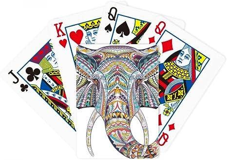 Mosaic estilo diseño de elefante de colores Poker juego de cartas Juego De Mesa Regalo: Amazon.es: Deportes y aire libre