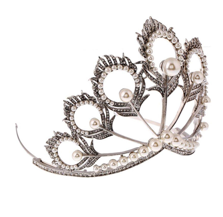 Wiipu Luxury Miss Universe Crown nova princess Rhinestone Crystal Bridal Wedding Crown(A1336)
