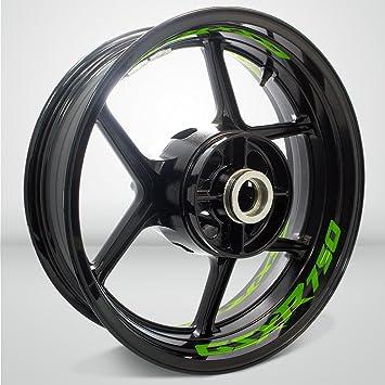 Gloss Light Green Motorcycle Rim Wheel Decal Accessory Sticker For Suzuki GSXR 750