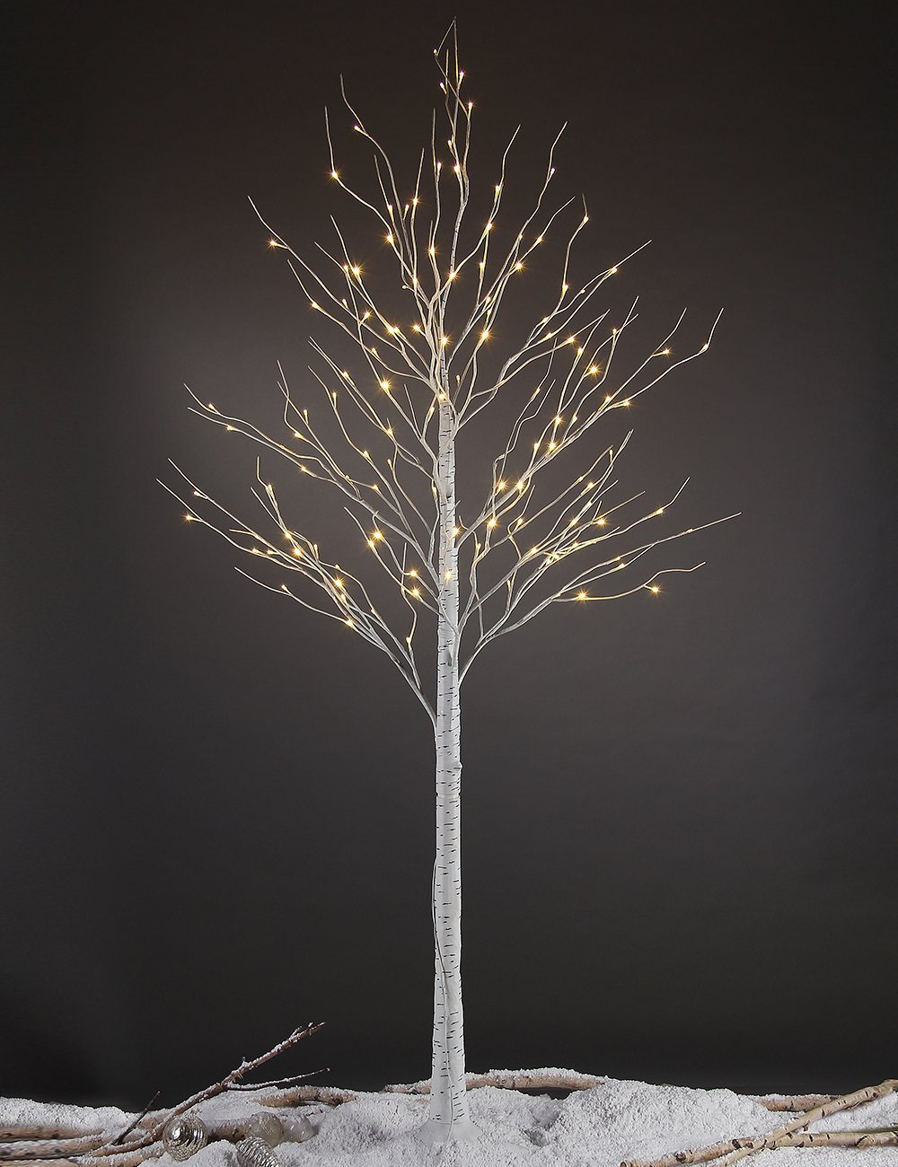 Amazon.com: Lightshare 8FT 132 LED Birch Tree,Home/Festival/Party/Christmas,Indoor  And Outdoor Use,Warm White: Home U0026 Kitchen