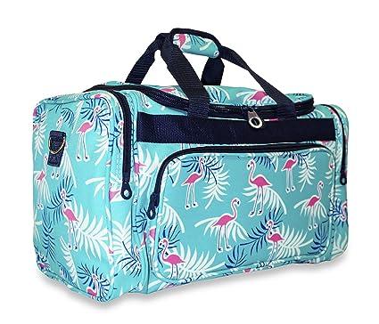 bd240e838b19 Amazon.com | Ever Moda Tropical Flamingo Duffle Bag | Travel Duffels