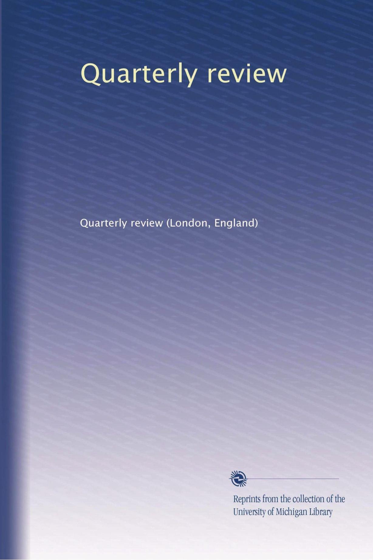 Quarterly review (Volume 84) ebook