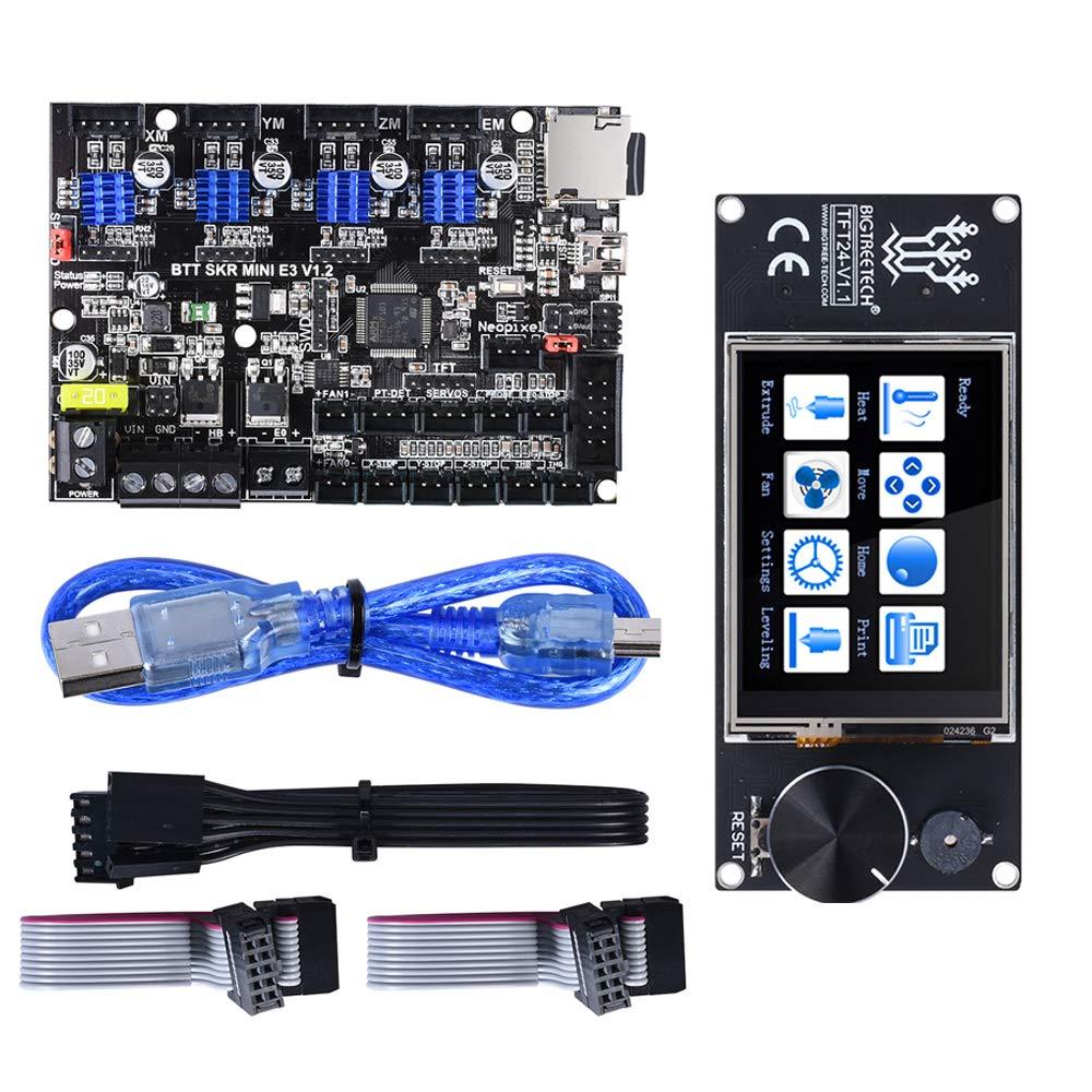 BIQU SKR Mini E3 Control Board 32Bit Integrated TMC2209 with TFT24 Touch Screen Display RepRap Smart Controller Panel/Compatible with SKR V1.3 SKR PRO Board/for 3D Printer
