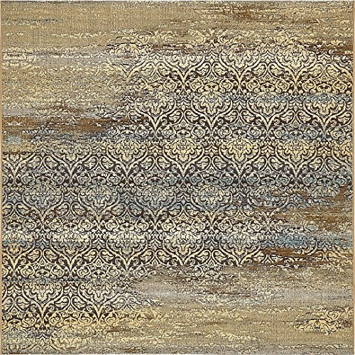 A2Z Rug Indoor/Outdoor Beige 6' x 6' - Feet Marbella Collection Area rugs - Perfect for Outdoor Area's & Indoor ()