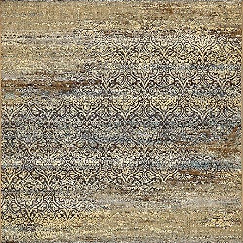 A2Z Rug Indoor/Outdoor Beige 6' x 6' - Feet Marbella Collection Area rugs - Perfect for Outdoor Area's & Indoor Beige 6' Octagon Area Rug
