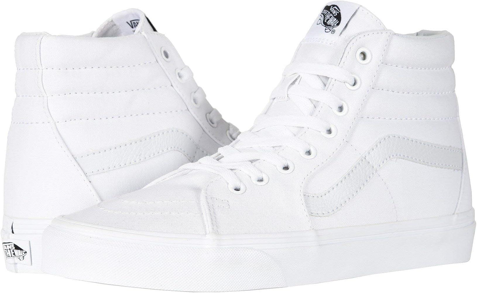Amazon.com   Vans SK8-HI True White