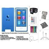 Apple iPod Nano 16GB - Blue + Extra Accessories, 7th Generation *LATEST MODEL July 2015*