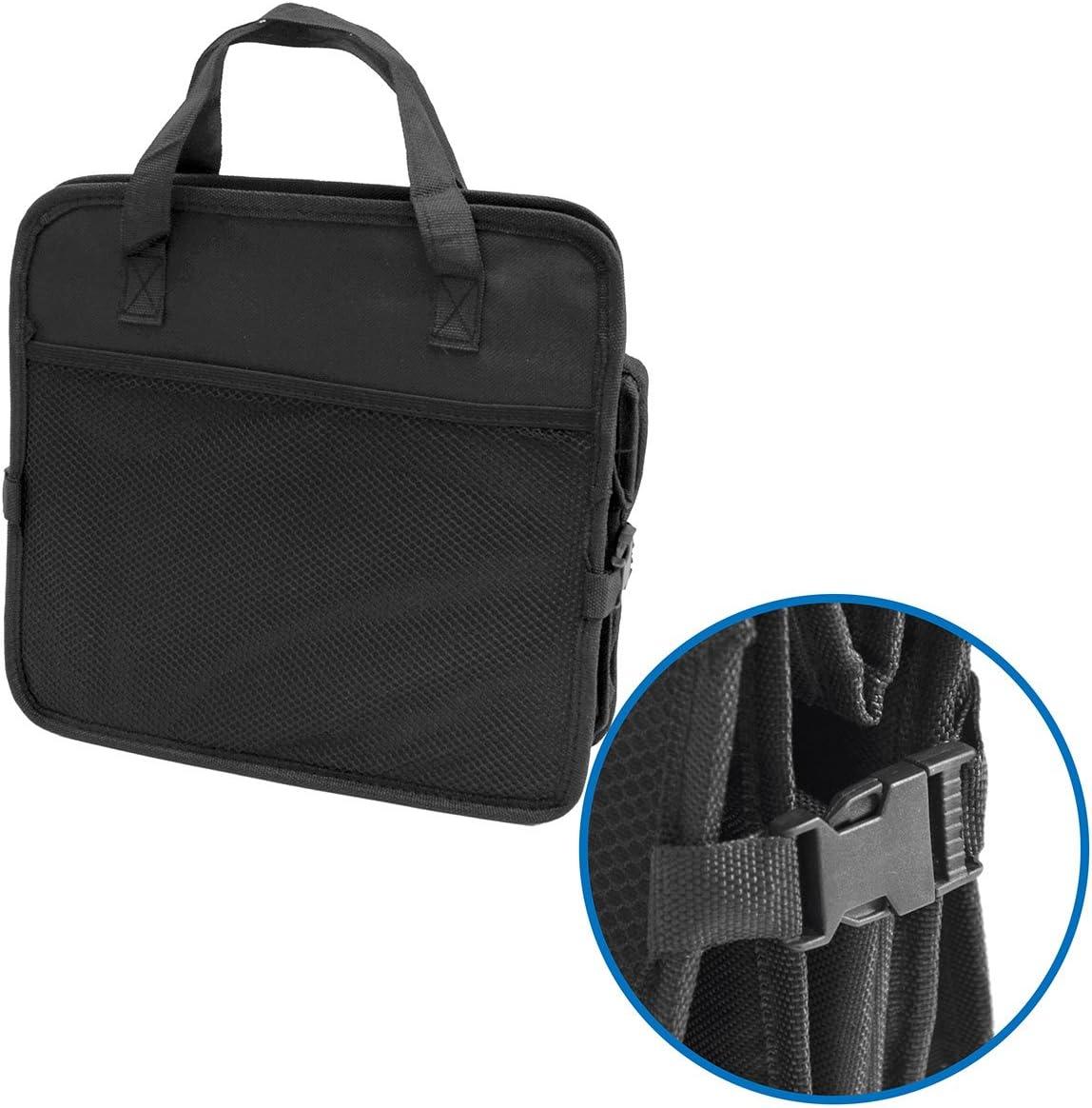 eyepower Car Boot Bag 60x32x29cm folding storage box with cooler Black
