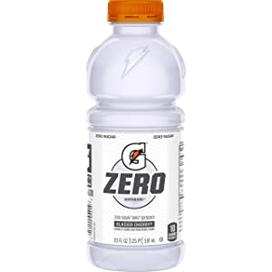Gatorade Zero Sugar Thirst Quencher, Glacier Cherry, 20 Fl Oz (Pack of 12)