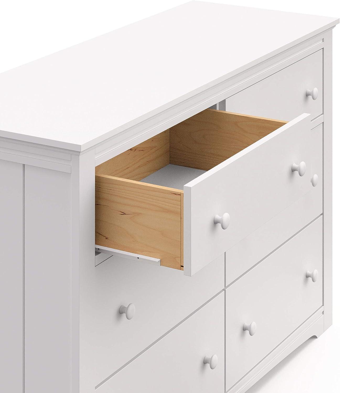 White Nursery Dresser, Storkcraft 03704-101 Graco Hadley 4 Drawer