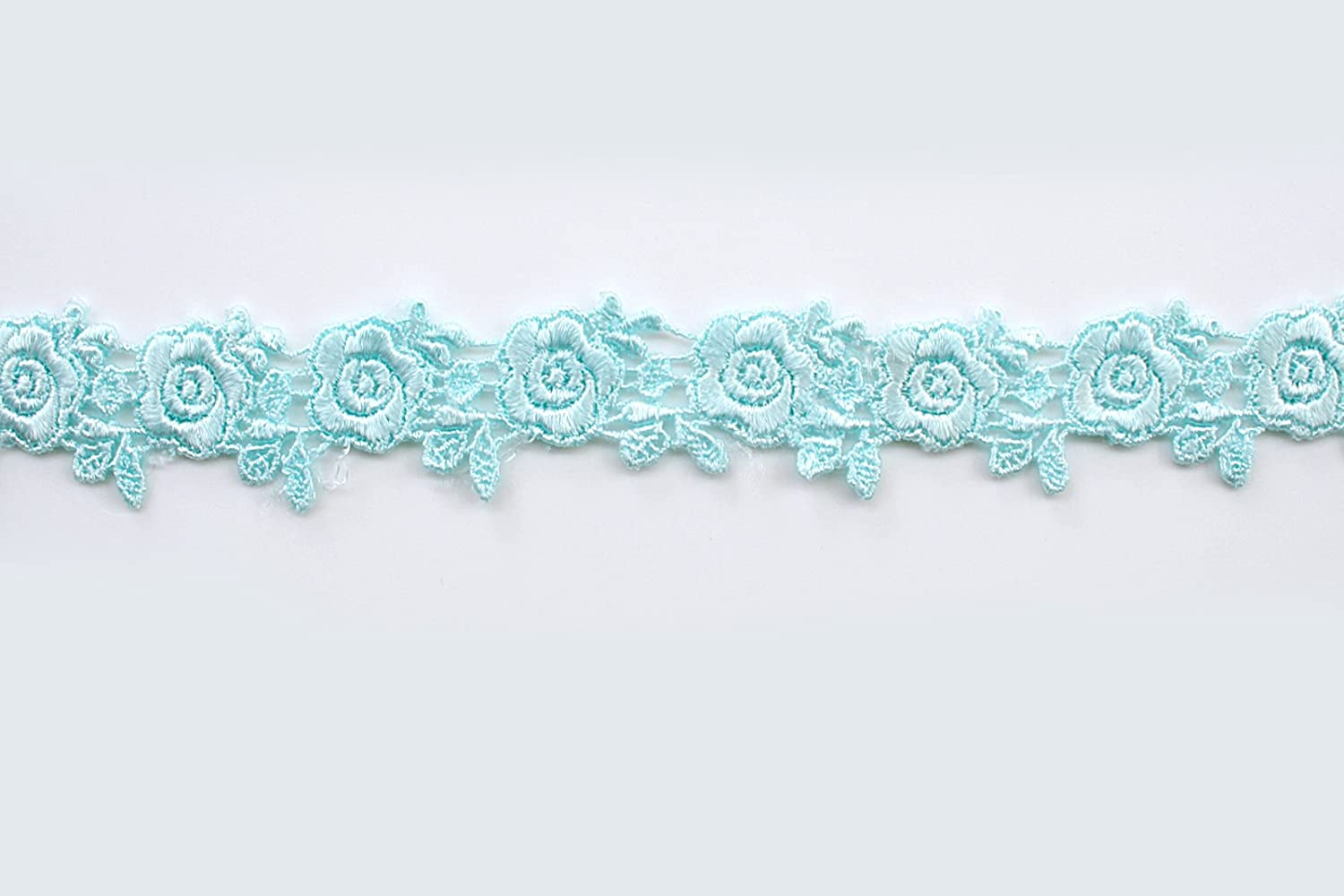 Altotux 1 19 Colors of Embroidered Floral Venice Lace Trim Guipure Trimming By Yard Navy
