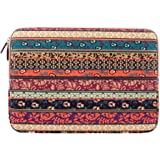 PLEMO Bohemian Style Canvas Fabric Sleeve Case Bag Cover for iPad Air / 4 / 3 / 2