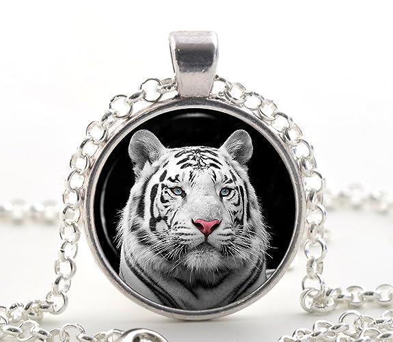 d41bb355f2 White Rare Tiger Necklace Pendant