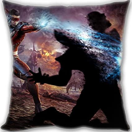 Cheap Custom Mortal Kombat Kenshi vs Skarlet Throw Pillow 60x60cm
