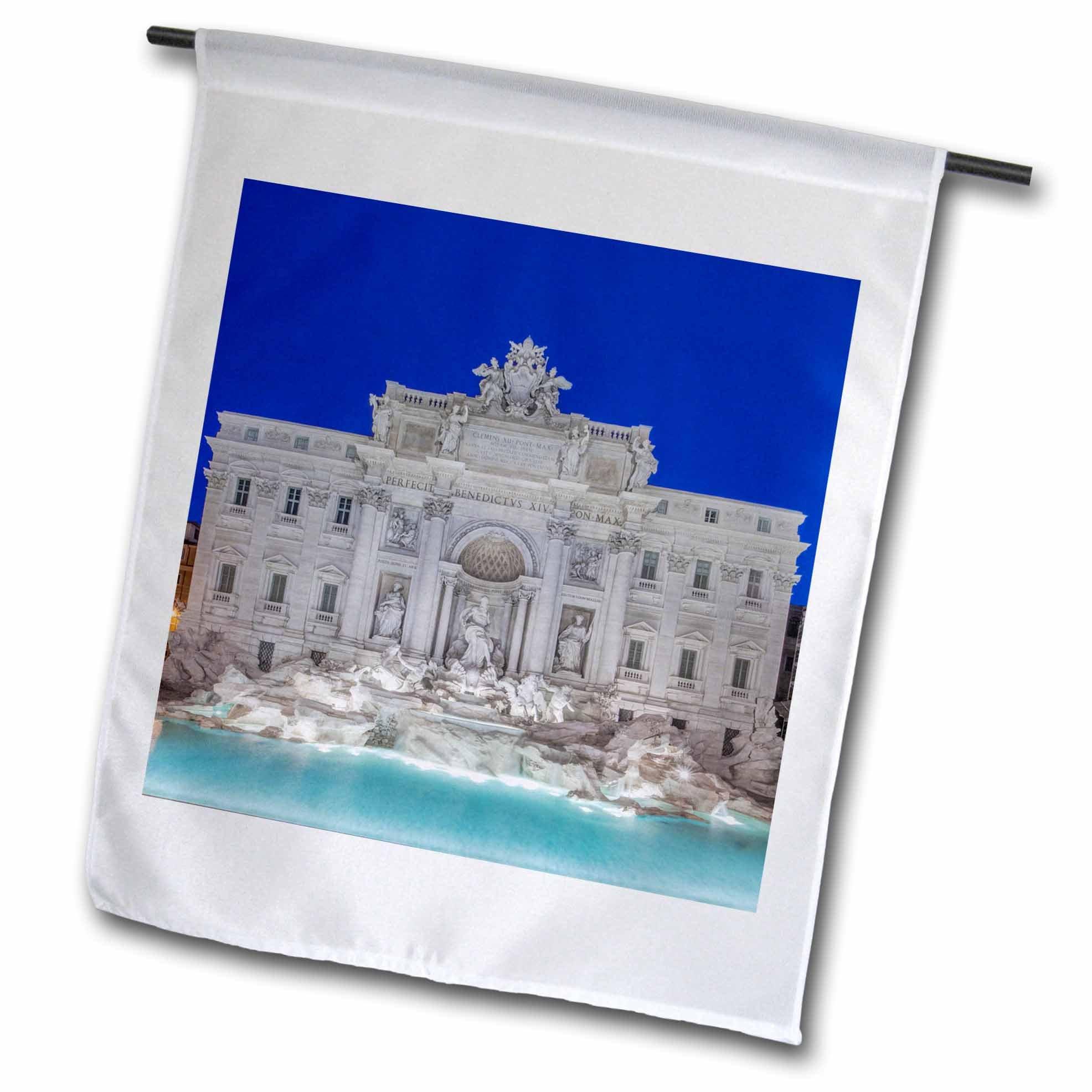 3dRose Danita Delimont - Fountains - Italy, Rome, Trevi Fountain. - 18 x 27 inch Garden Flag (fl_277655_2)