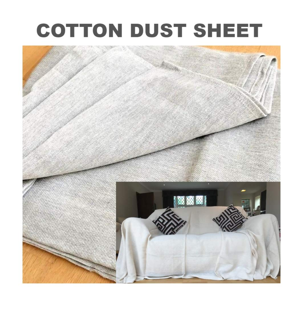 3 X Cotton Twill Dust Sheets. *** Made from Recycled Cotton*** Size : 3.65m x 1.82m / 12ft x 6ft Approx. (Pack of 3 Dust Sheets) JMS Bridge