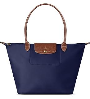 Amazon.com: Longchamp Le Pliage Large Shoulder Tote Bag (Bilberry ...