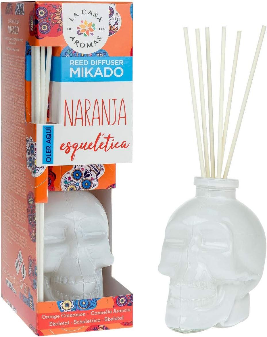 Mikado - Difusor de perfume Calavera, aroma Canela Naranja, Especial Halloween 100 ml …: Amazon.es: Salud y cuidado personal
