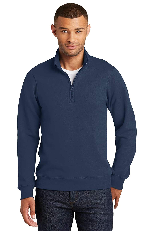 Port /& Co Mens Fan Favorite Fleece 1//4-Zip Pullover Sweatshirt