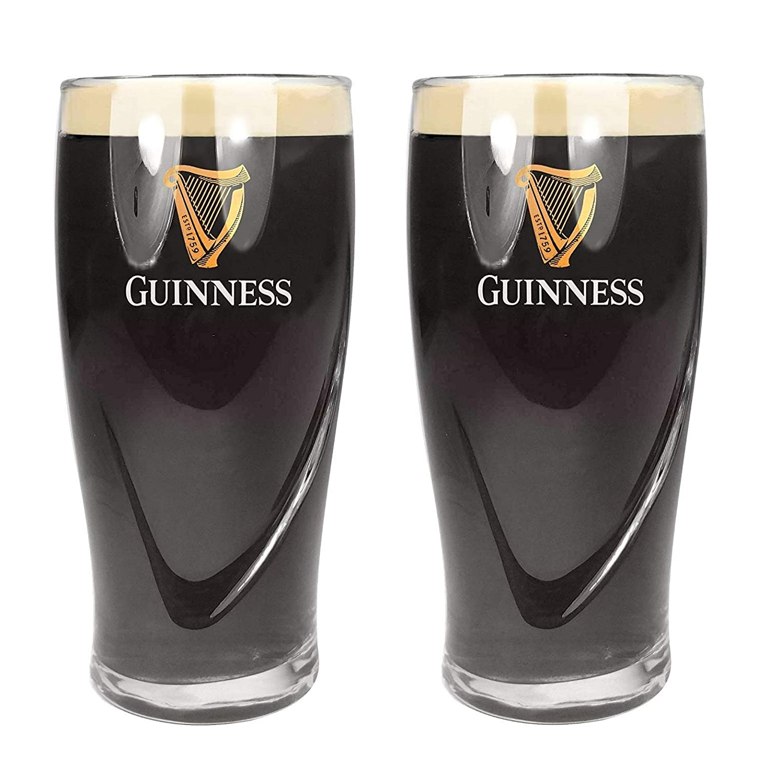 Bicchiere da birra in rilievo set da 2 Guinness Official Merchandise