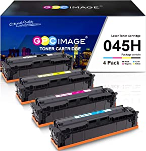 GPC Image Compatible Toner Cartridge Replacement for Canon 045 045H CRG-045H CRG-045 for Color ImageCLASS MF634Cdw MF632Cdw LBP612Cdw MF632 MF634 Laser Printer Toner Ink (4-Pack)
