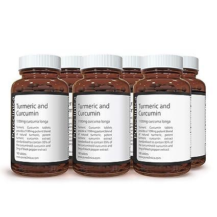 Cúrcuma Turmeric - 1000mg x 1080 comprimidos (6 frascos) - Incluyendo 95% de