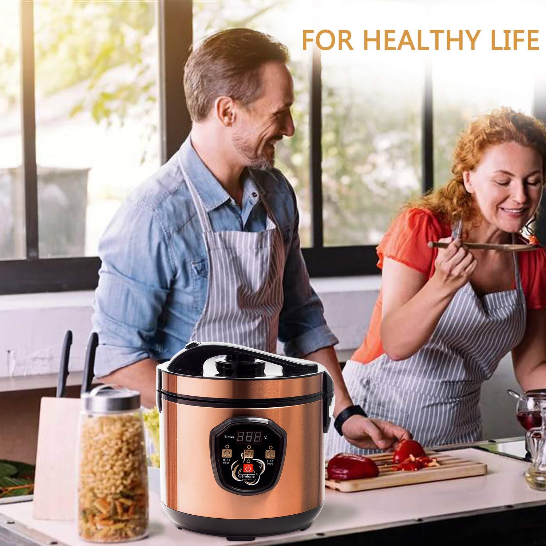 Appareil m/énager//de Cuisine Machine de Fermentation Intelligente avec Fonction de s/échage GemTune Fermenteur dail Noir r/églage du Temps de Fermentation
