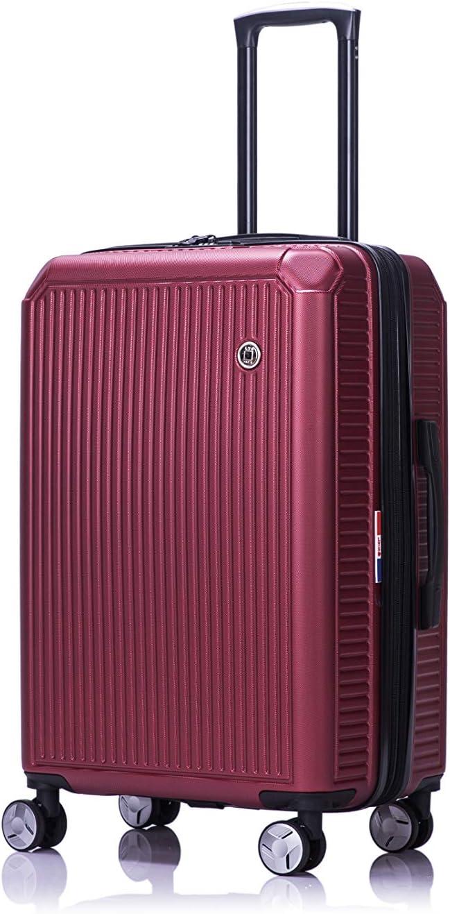 Set de 3 Valises Extensible Bordeaux Rigide ABS Code TSA 55-67-76cm Bordeaux LYS