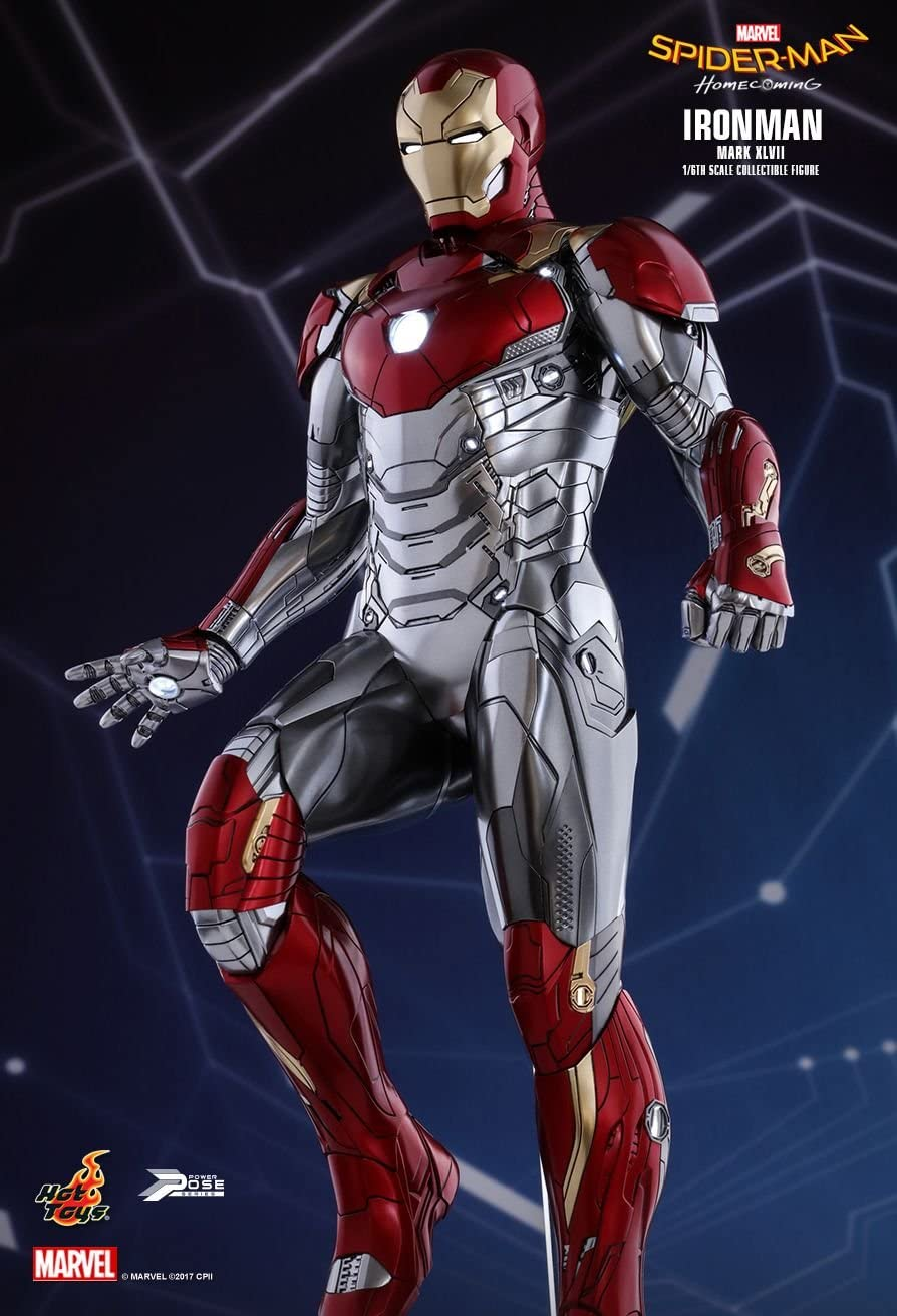 Spider-Man Homecoming Iron Man Mark XLVII Marvel Action Figure Toy Statue Gift