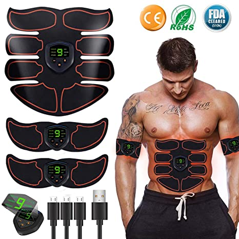 Fitness, Running & Yoga Ab Waist Belt Band Trainer Workout Fitness Men Women Toning Gym Exercise Body