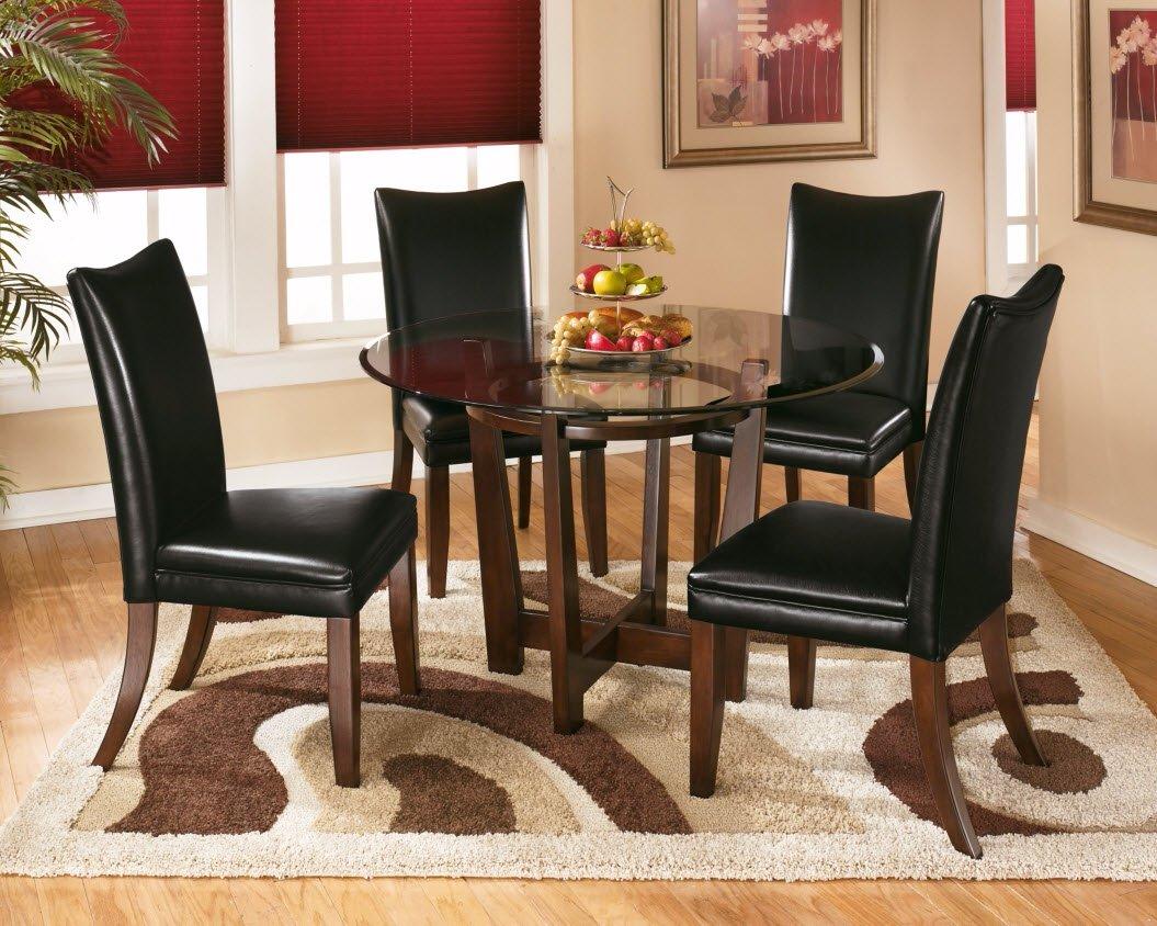 Ashley Furniture Signature Design - Charrell Dining Upholstered Side Chair - Curved Back - Set of 2 - Black