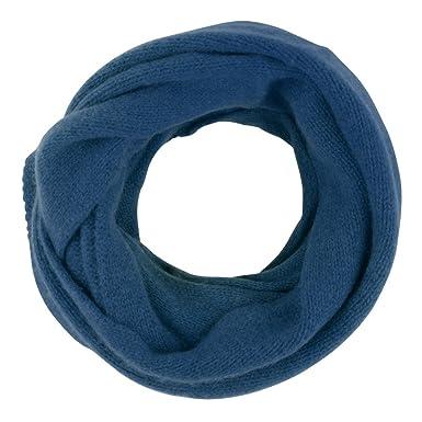 31bc5d3f2874 Les Poulettes Bijoux Echarpe Tube 100% Cachemire 4 Fils Volume Colors -  Bleu Navy
