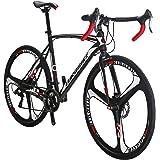 Bikes EURXC550 21 Speed Road Bike 700C Wheels Road Bicycle Dual Disc Brake Bicycles
