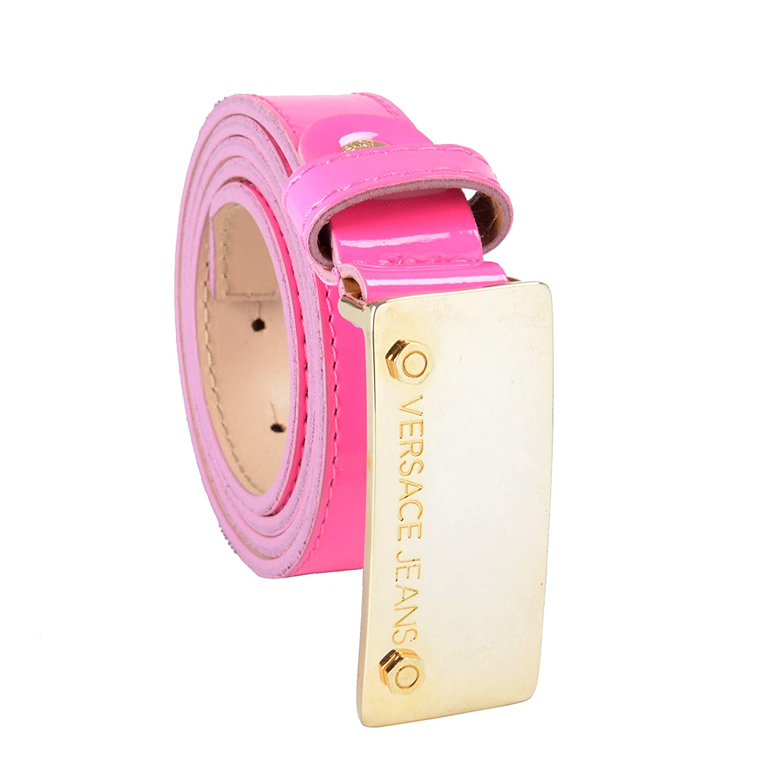 Versace Jeans Leather Pink Women's Belt US 85 IT 100