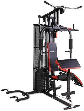SportPlus Multiestación de Musculación para el Hogar, Entrenamiento Funcional con Pesas para Todo el Cuerpo