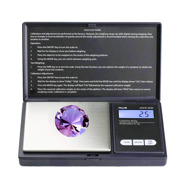 Bilancia digitale tascabile, 500g 0.01g Bilancia Digitale di Precisione, Bilance per Gioielli, con Display LCD, Piattaforma dell'acciaio Inossidabile, Funzione Tara, per Cucinare, Droga, Caffè Piattaforma dell'acciaio Inossidabile Caffè JHFUN