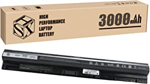 HSX M5Y1K Battery for Dell Inspiron 14 15 17 5000 3000 Series 3451 5559 3551 5558 3558 3567 5755 5756 5458 5759 5758 5759 GXVJ3 WKRJ2 VN3N0 HD4J0 991XP P63F P47F P51F P52F P64G [14.8V/45Wh/3000mAh]