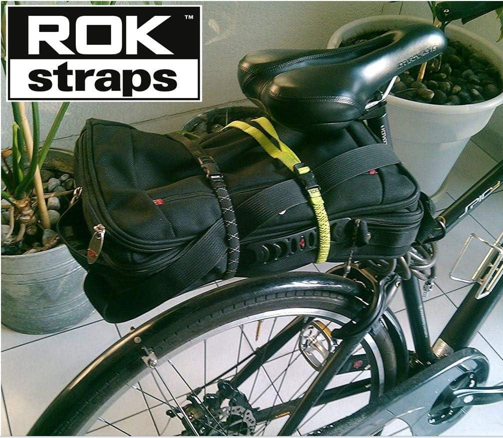 ROK Straps ROK332 Lot de 2 Sangles r/églables Noir r/éfl/échissant 30,5 cm 71,1 cm