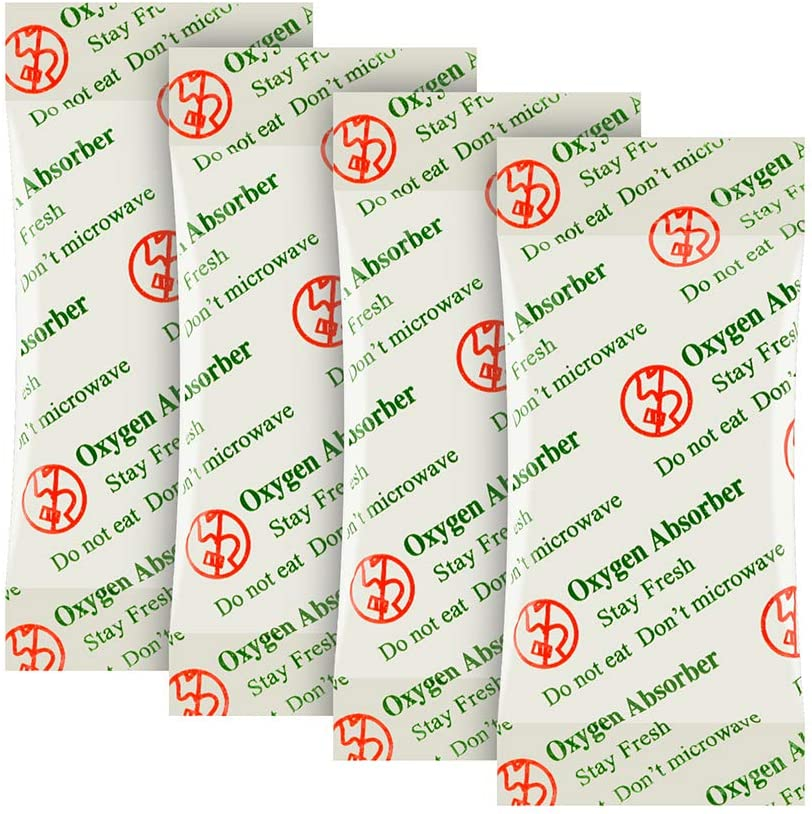 O2frepak 2000CC(20-Pack) Food Grade Oxygen Absorbers Packets for Food Storage Food Grade oxygen absorbers storage packets with oxygen indicator in vacuum bag and 3 times oxygen absorption capacity