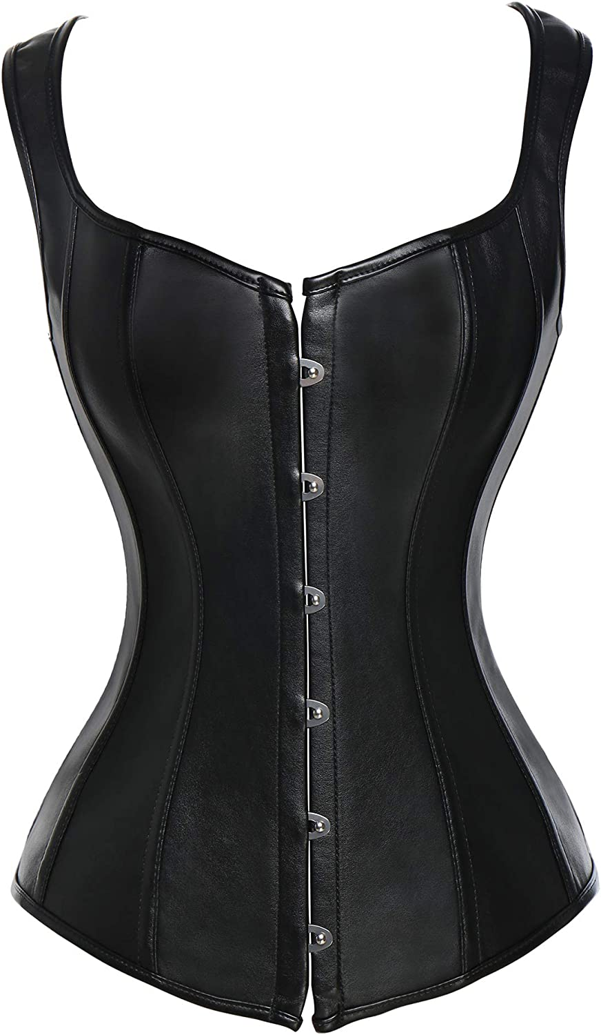 Baltimore Mall SLIMBELLE Faux Max 89% OFF Leather Corset Basque Bustier Buckle-up Overbust