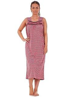 394e57bbed Bay eCom UK Ladies Nightwear Heart Polka Print 100% Cotton Sleeveless Long…