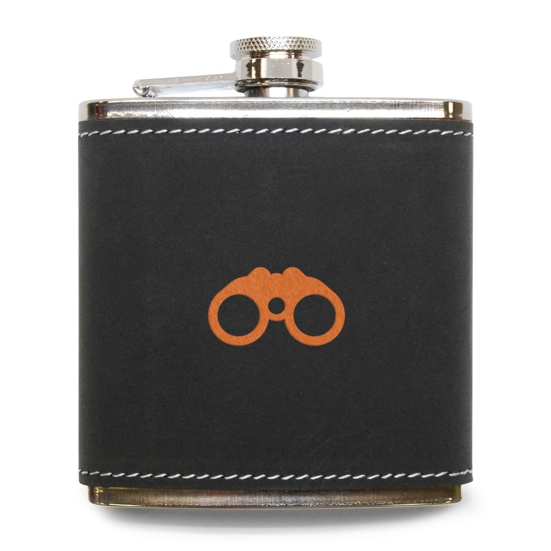 週間売れ筋 モダンGoods Shop双眼鏡フラスコ in – ステンレススチールボディグレーレザーカバー B071JMPDL8 – 6オンスレザーヒップフラスコ – Made – in USA B071JMPDL8, kazunori ikeda individuel:d2fa343b --- a0267596.xsph.ru