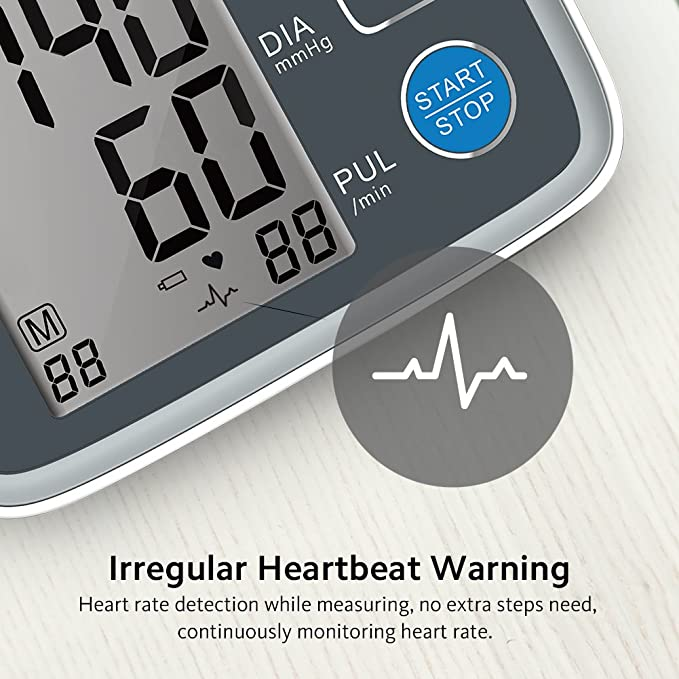 Tensiómetro brazalete de cocobear brazo presión arterial Monitor Digital Automático arhythmie BP Monitor para uso doméstico 2 * 90 Memoria: Amazon.es: ...
