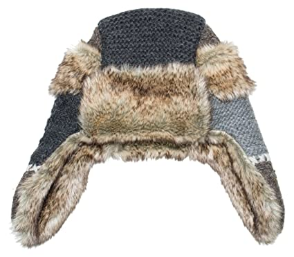bed616d22 Amazon.com : Everest Designs Unisex Patch Work Fur Hat, Natural, One ...
