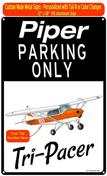 Piper PA-22-135 Tri-Pacer (Orange) Custom HD Airplane Sign