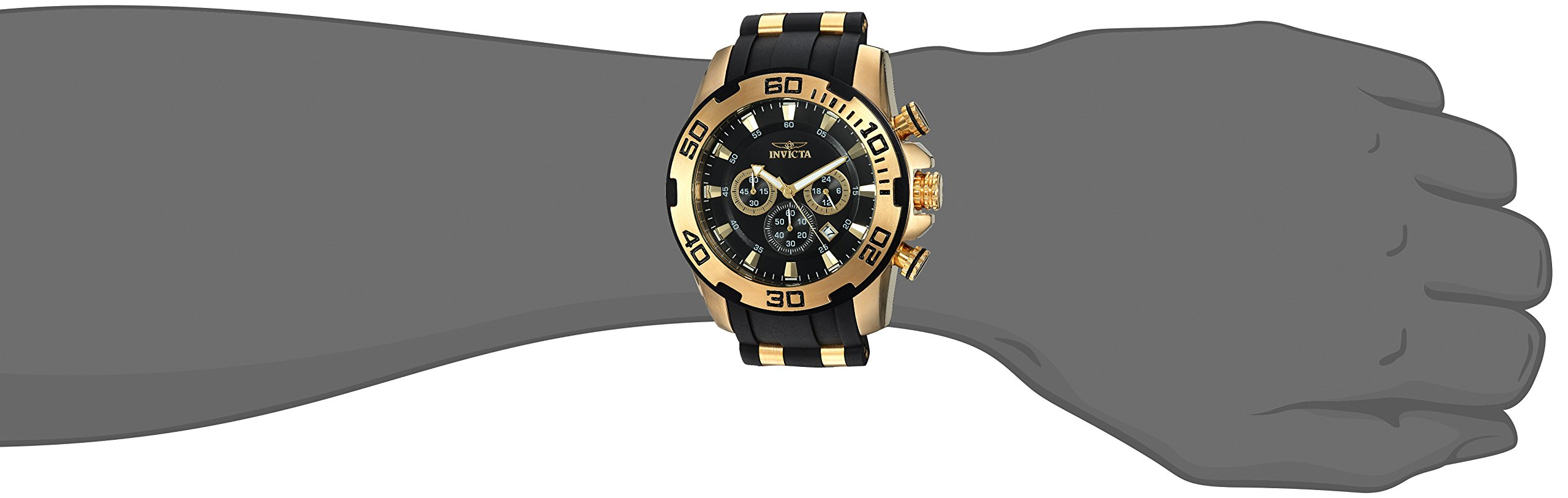 Invicta Men's Pro Diver Stainless Steel Quartz Watch with Silicone Strap, Black, 25 (Model: 22340 by Invicta (Image #2)