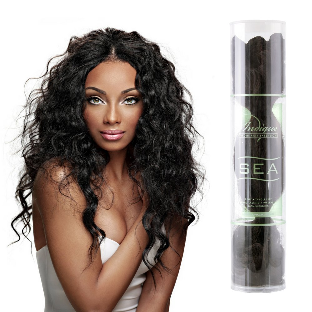 Amazon Indique Virgin Hair Extensions Sea Tahitian Wave 12