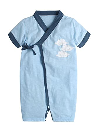 977c8714d46 Amazon.com: NOMSOCR Newborn Baby Boys Girls Summer Short Sleeve ...
