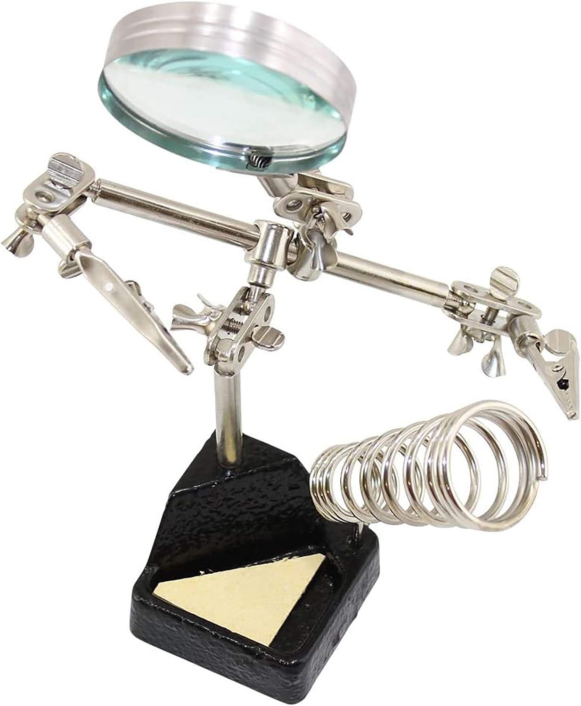 Troisi/ème main soudage support loupe pince porte-fil pour l/étang stylo /à souder aide porte fer /à souder